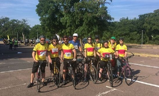 Team Amnesty cyclists ready to tackle the London to Cambridge Challenge!