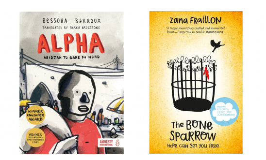 Alpha and The Bone Sparrow book covers