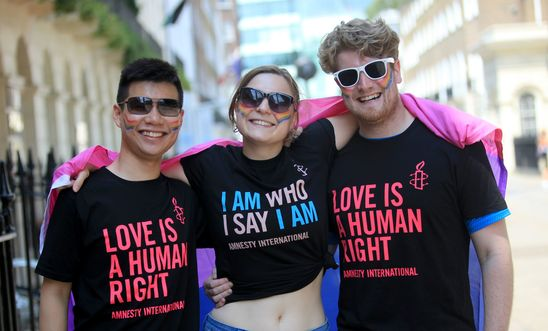 Amnesty activists at London Pride 2018