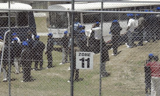 Refugees at the Australian detention centre on Christmas Island