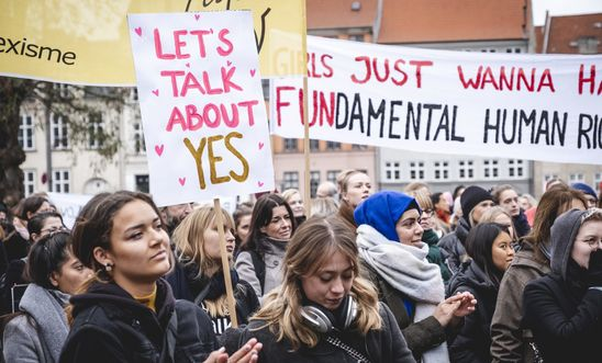 Consent march in Denmark
