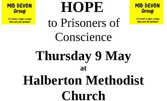 Card of Hope evening | Mid Devon | 27 Apr 2019 | Amnesty
