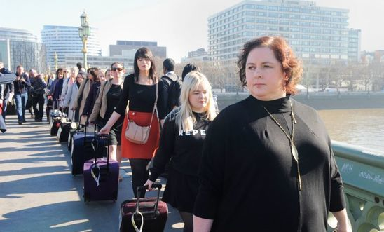 Amnesty's 'suitcase march' on Parliament to demand abortion rights