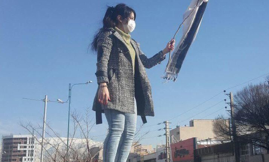 women without veil in Iran