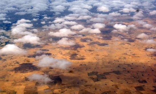 Aerial view of South Darfur
