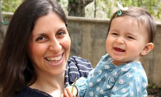 Nazanin with her daughter Gabriella