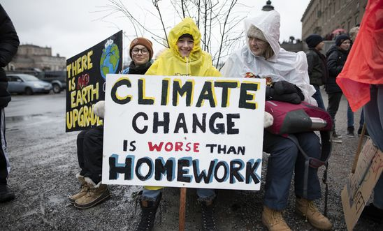 School students who are deciding not to attend classes and instead take part in demonstrations to demand action to prevent further global warming and climate change.