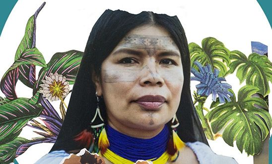 Portrait of the environmental defender Patricia Gualinga from Ecuador