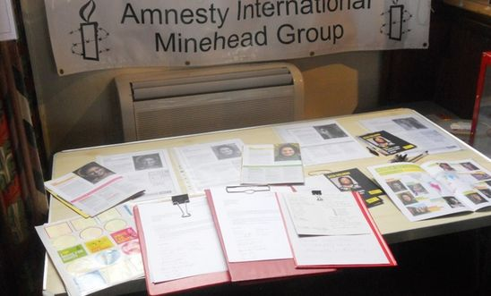 Amnesty action stall