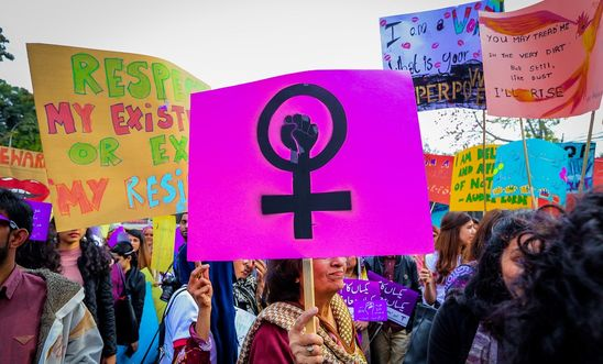Women in Lahore, Pakistan, march to mark International Women's Day 2019