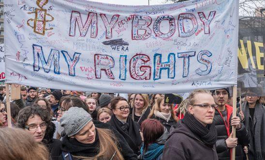 My body my rights banner