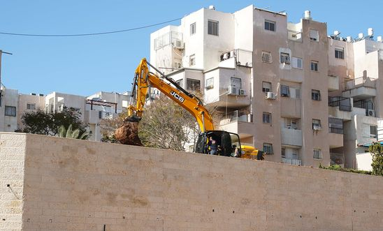 This image was taken on February 2020 in the illegal Israeli settlement of Modi'in Illit in the occupied West Bank.