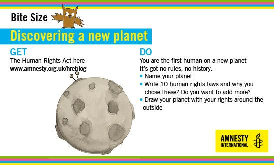 Write human rights laws for a new planet