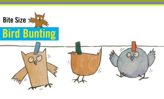 Make bird bunting to celebrate our human right to freedom.