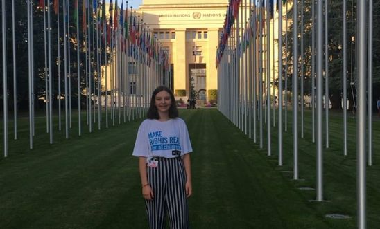 Me (Eilidh) at the UN with the Children's Human Rights Network