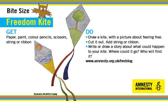 Make a kite to celebrate our right to freedom.