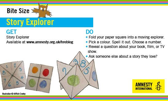Use your paper folding skills to make a story explorer
