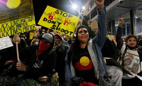 Sydney Black Lives Matter Rally In Solidarity With U.S. Protests Over Death Of George Floyd