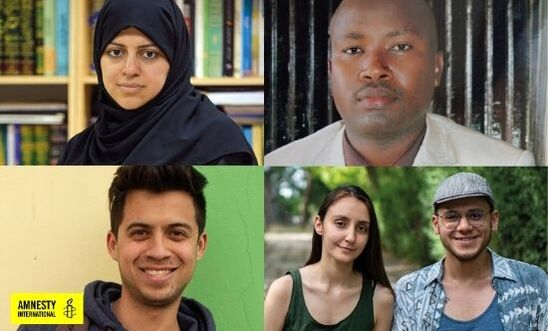 Photo five human right champions who need your support