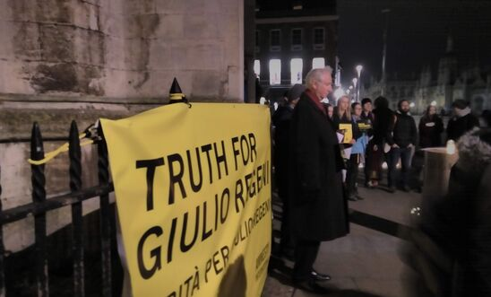 Last Year's Vigil for Giulio Regeni with MP Daniel Zeichner speaking