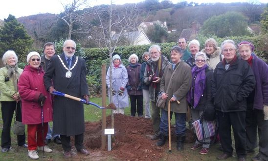 Minehead AI members at the tree planting