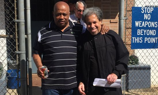 Albert Woodfox leaves the West Feliciana Detention Centre with his brother