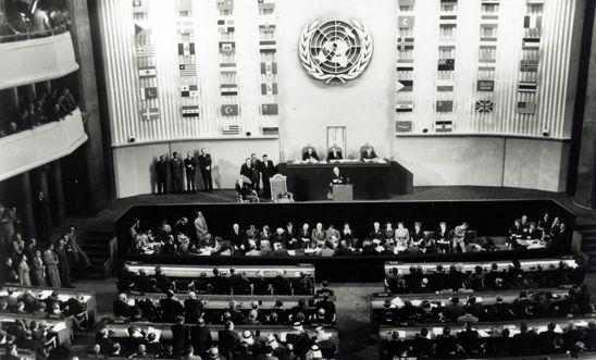 Representatives of United Nations member states draft the UDHR in 1948