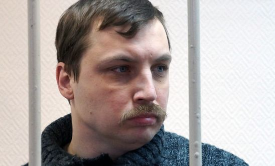 Mikhail Kosenko at a court hearing in 2013