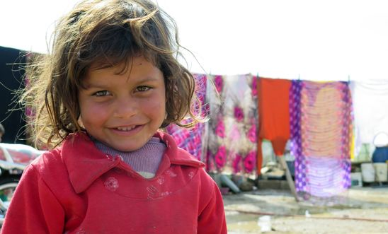 Syrian girl in Freij refugee camp in the Bekaa valley, East Lebanon