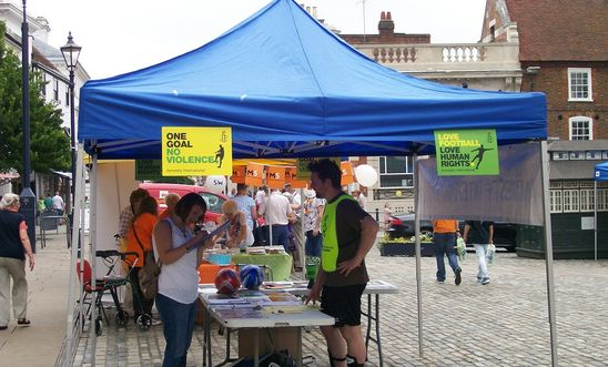 14 June 2014: Stall in Hitchin Market Square