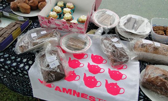 Cake stall at one of our Amnesteas
