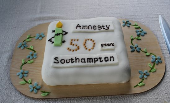 The group was 50 in 2014. This was our birthday cake.