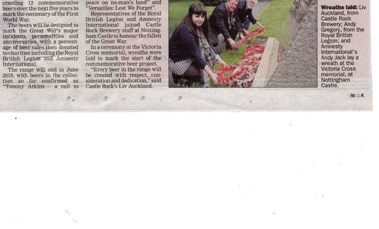 Nottingham evening post article of launch