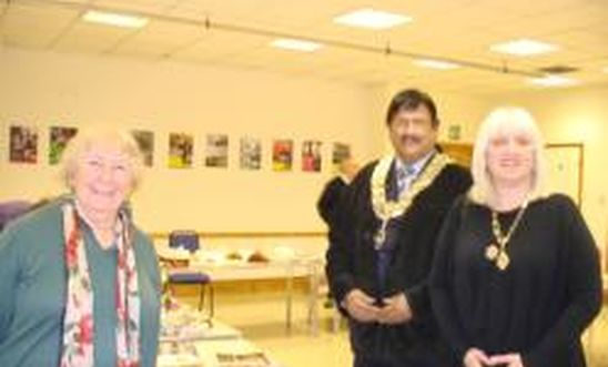 The Mayor and Mayoress visit our Amnestea Event