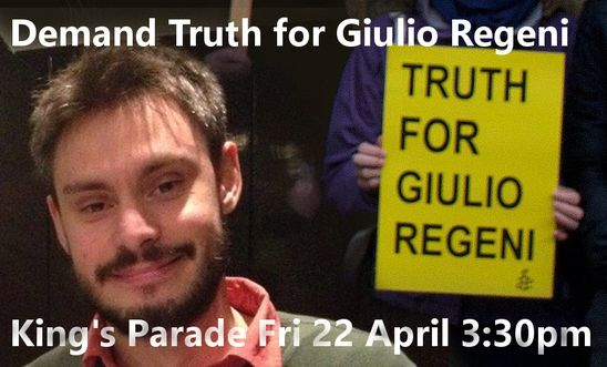 Demand Truth for Giulio Regeni