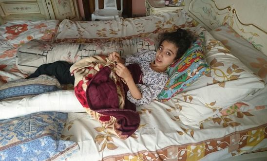 Ten-year-old Ghina Ahmad Wadi, was shot in the leg by a sniper on 2 August