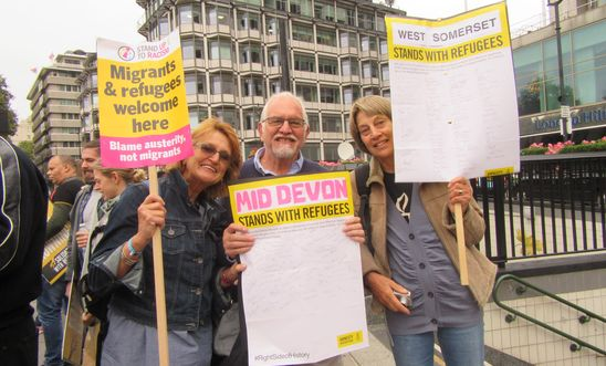 Mid Devon Amnesty Refugees march London