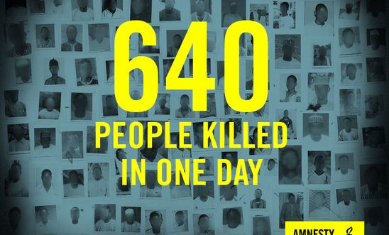 640 people killed in one day
