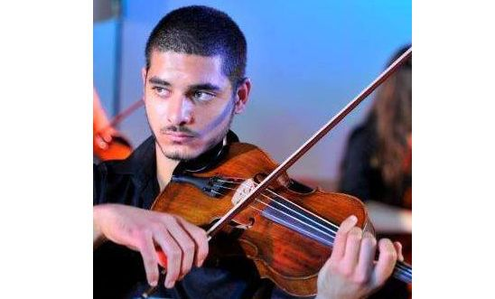 Israeli conscientious objector and viola player Omar Saad