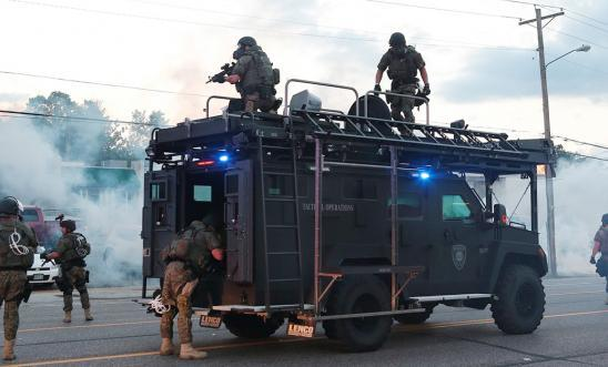 Police in Ferguson, Missouri