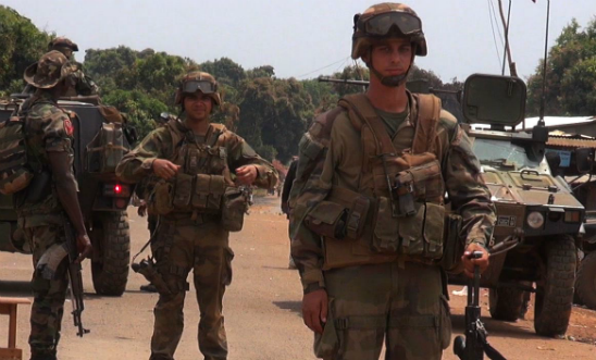 French troops on patrol in Central African Republic