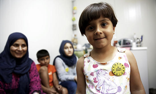 Six-year-old Noura and her family were forced to flee from Syria