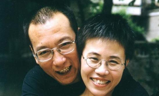 Liu Xiaobo and wife Liu Xia
