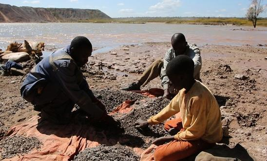 Child labour is often used in the mining of cobalt in the DRC