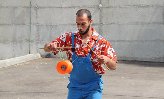 Mohammad Faisal Abu Sakha, a 23-year-old Palestinian circus performer