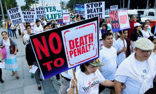 A protest against plans to reimpose death penalty in the Philippines earlier this year