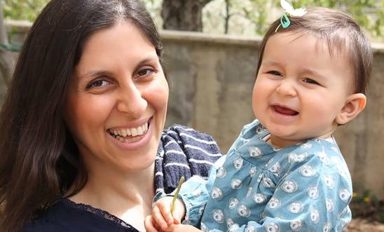 Nazanin with her daughter