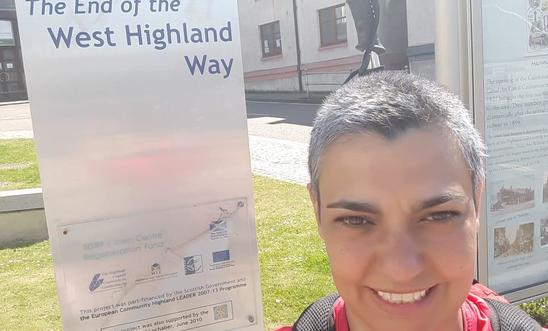 Perth Amnesty member Angharad completes the West Highland Way for Amnesty