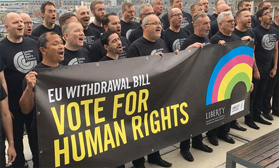 London Gay Men's Chorus call on MPs to vote for human rights