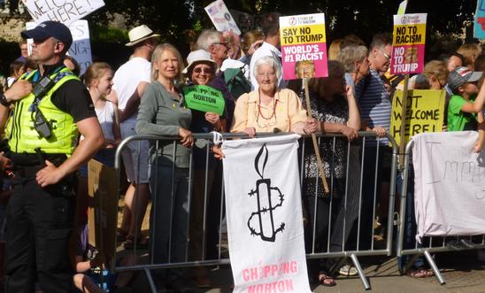 Group Members join the protest at Blenheim Palace